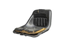 Torn leather seat Stock Image