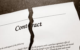 Torn legal contract Royalty Free Stock Photo