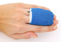 Torn ligament and fractured bone. Medical remedy for torn ligament and fractured bone Royalty Free Stock Photo