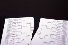 March Madness Torn Bracket Royalty Free Stock Image