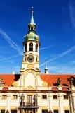 Torn med klockor av loretaen Royaltyfria Foton