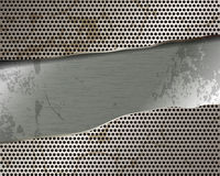 Torn metal grille Royalty Free Stock Images