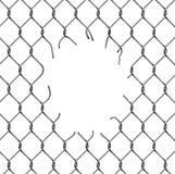 Torn metal mesh Royalty Free Stock Photos