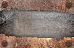 Torn metal texture Stock Images