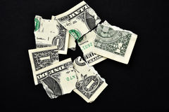 Torn money Royalty Free Stock Photo