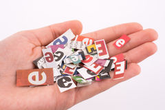 Torn Newspaper Titles Royalty Free Stock Images