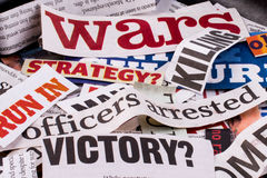 Torn Newspaper Titles Royalty Free Stock Photo