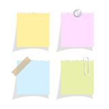 Torn note paper Royalty Free Stock Photos