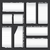 Torn notebook Stock Photography