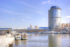 Torn 2000 och bro av Bagration Royaltyfria Foton