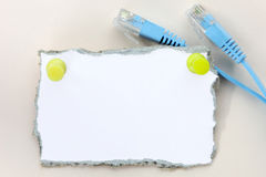 Torn off-white paper, ready for your message. Stock Images