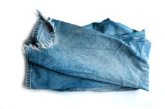 Torn old jeans Royalty Free Stock Photo