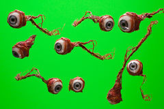 Torn Out Eyeball Stock Photo