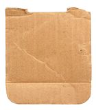 Torn out piece of cardboard Royalty Free Stock Photos
