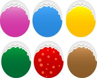 Torn oval paper set Stock Images
