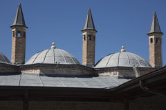 Torn ovanför dervischcellerna i det Mevlana museet Royaltyfri Foto