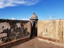 Torn på Castillo San Cristobal i San Juan, Puerto Rico Histo Arkivbild