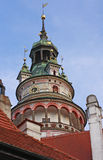 Torn på Ceske Krumlov Royaltyfri Bild