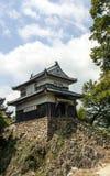 Torn på den Bitchu Matsuyama slotten i Japan Arkivbilder