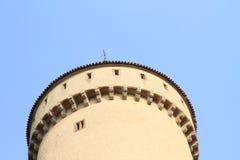 Torn på slotten Konopiste Arkivbilder