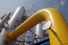 Torn på stationen för gaskompressor Arkivfoto