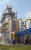 Torn på stationen för gaskompressor Royaltyfri Fotografi
