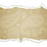 Torn paisley  paper. Royalty Free Stock Images