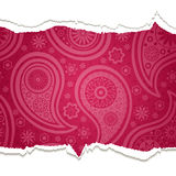 Torn paisley  paper. Royalty Free Stock Photo