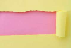 Torn paper. Background of torn paper of various colors stock photography