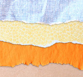 Torn paper background with space for text. different colors and patterns Stock Photos