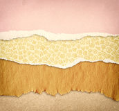 Torn paper background with space for text. different colors and patterns Stock Photo