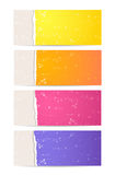 Torn paper banner set Stock Images