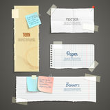 Torn Paper Banner Set Royalty Free Stock Photography
