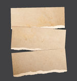 Torn paper banners Stock Image