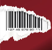 Torn paper with barcode. Vector illustration. Royalty Free Stock Image