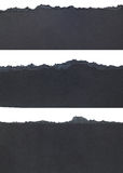 Torn Paper Borders. Black Torn Paper Borders isolated on white background Stock Photo