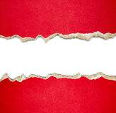 Torn paper borders on white Stock Photos