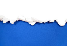 Torn paper borders on white Royalty Free Stock Photos