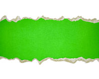 Torn paper borders on white Stock Photography
