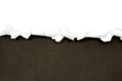 Torn paper borders on white Royalty Free Stock Image