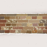 Torn paper on brick wall background. Vector Stock Photos