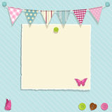 Torn paper and bunting background Stock Images