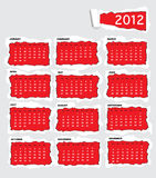 Torn paper calendar 2011. Torn paper 2012 calendar with space for text Stock Image