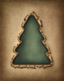 Torn paper christmas tree Royalty Free Stock Photography