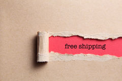 Torn paper. With free shipping royalty free stock images