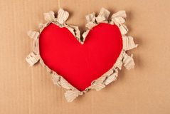 Torn paper heart. Velrntine. Blank Royalty Free Stock Photo
