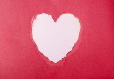 Torn paper heart Royalty Free Stock Images
