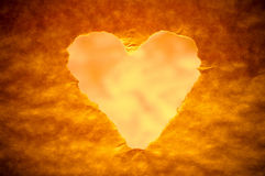 Torn paper heart frame Stock Images