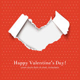 Torn paper heart Stock Image