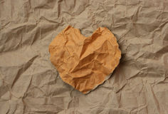 Torn paper heart Stock Images